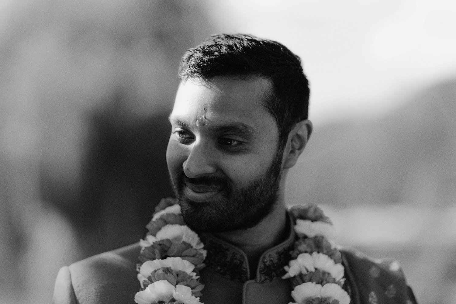 creative indian groom portrait