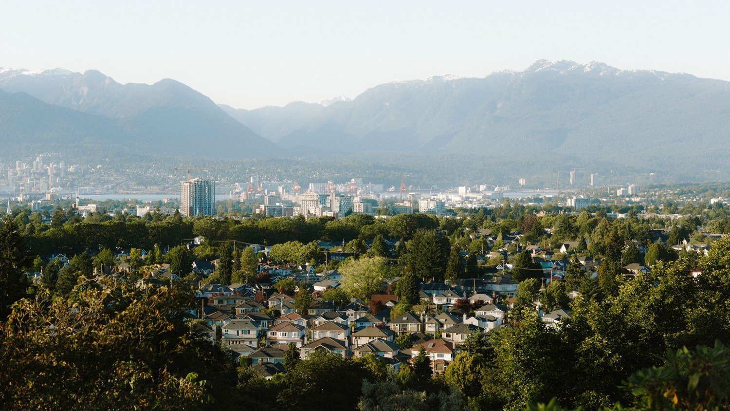 vancouver city view from highest point at qe park