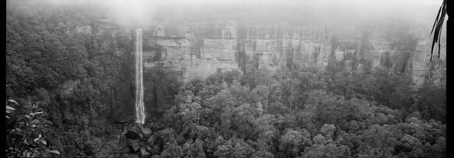 kangaroo valley gerringong falls panorama on xpan 35mm film