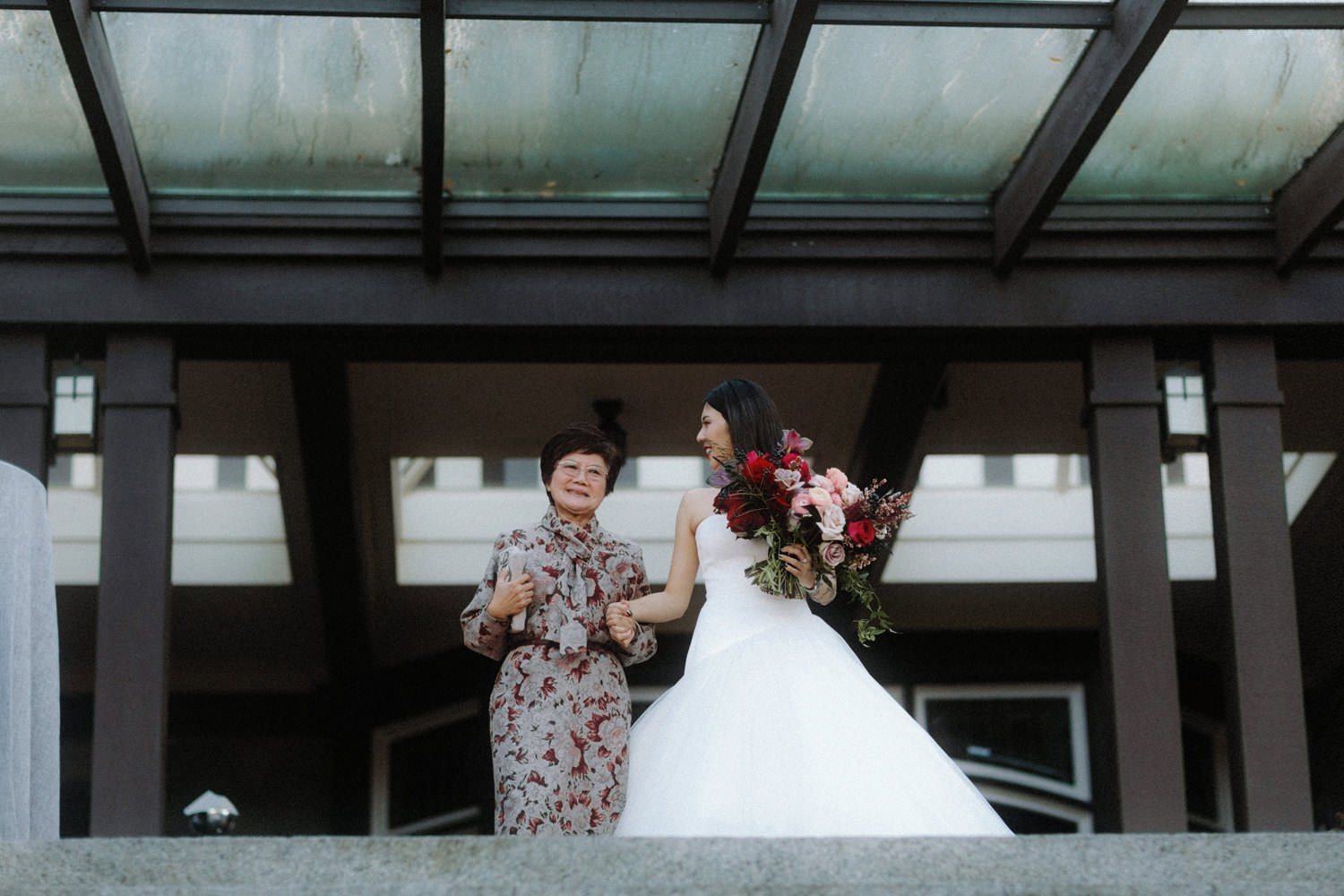 bride grandma vancouver wedding ceremony